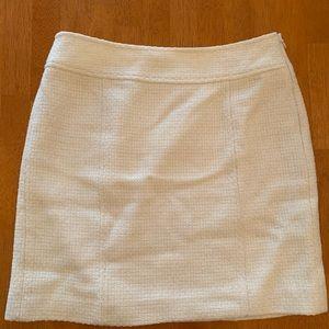Banana republic cream tweed pencil skirt
